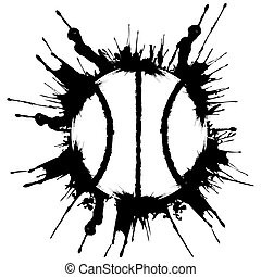 Grunge style basketball. .Abstract vector illustration