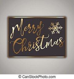 Grunge style Christmas card design