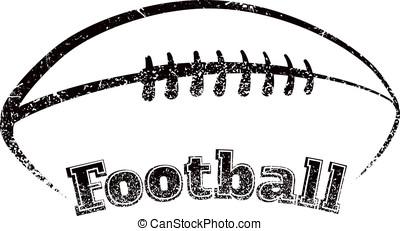 Grunge-style Football Design - Grunge styled football the...