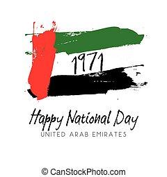 Grunge style image for UAE National Day - Grunge style image...
