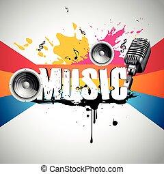 grunge style music background