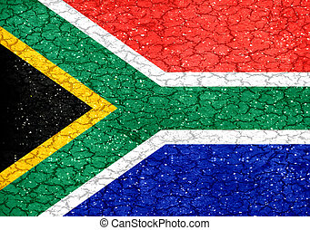 Grunge Style South Africa National Flag