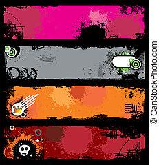 Grunge stylish banners 1