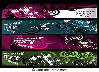 Grunge stylish banners