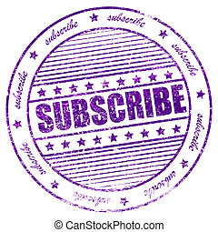 Grunge subscribe now rubber stamp