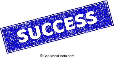 Grunge SUCCESS Scratched Rectangle Stamp