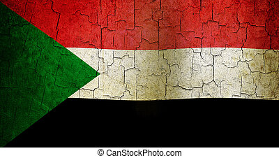 Grunge Sudan flag