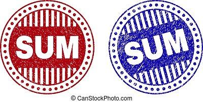 Grunge SUM Scratched Round Stamps