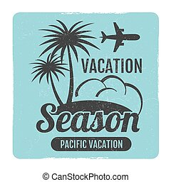 Grunge summer travel logo design