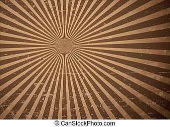 Grunge sun rays