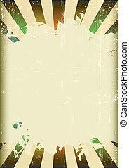 Grunge sunbeam color flag