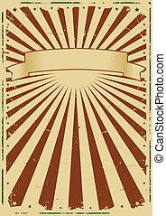 Grunge Sunbeams Background - Illustration of a Grunge...