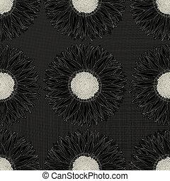 Grunge sunflower pattern