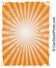 Grunge sunray background - The background of grunge sunray