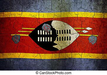 Grunge Swaziland flag