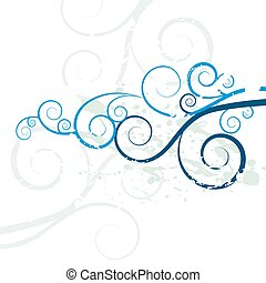 Grunge Swirl Background Texture - An image of a grunge swirl...