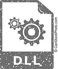 grunge, -, systeem, bestand, pictogram