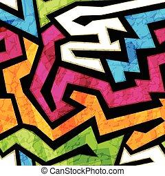 grunge, színezett, hatás, struktúra, seamless, falfirkálás