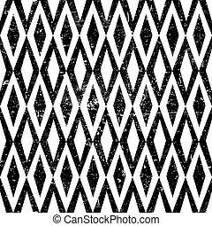 grunge, szüret, pattern., seamless, rombusz, háttér., textured