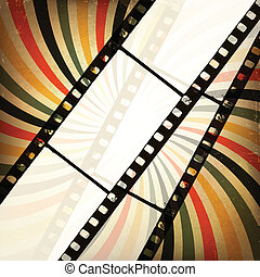 grunge, tło., wektor, eps10, kino