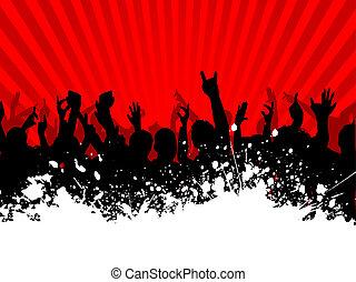 grunge, tłum