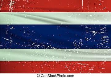 grunge, tailandia, flag.