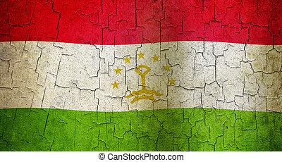 Grunge Tajikistan flag