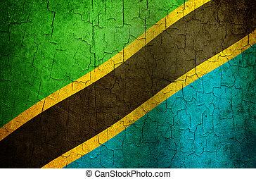Grunge Tanzania flag