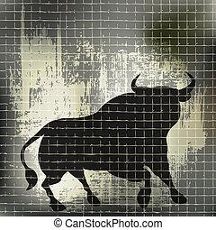 grunge, taureau