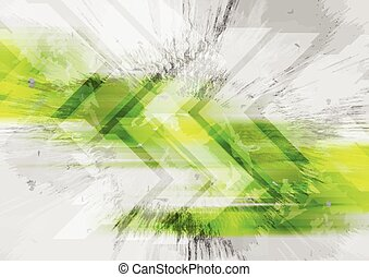 Grunge tech background with arrows. Vector illustration