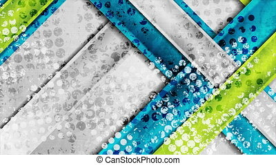 Grunge tech geometric abstract motion background