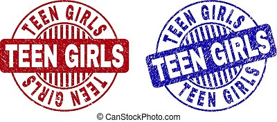 Grunge TEEN GIRLS Textured Round Watermarks