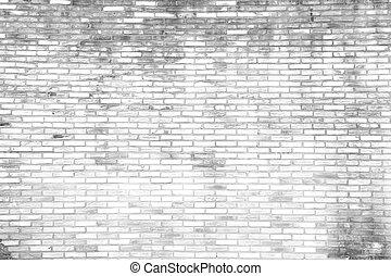 grunge, tegelsten, bakgrund, vägg, vit