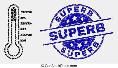 grunge, température, pointillé, watermark, superb, vecteur, icône