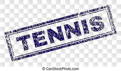 Grunge TENNIS Rectangle Stamp