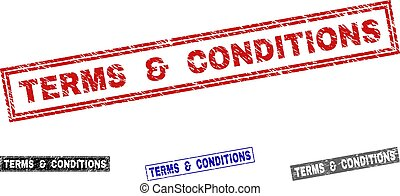 Grunge TERMS & CONDITIONS Scratched Rectangle Watermarks