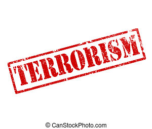 grunge, terrorism, stämpel
