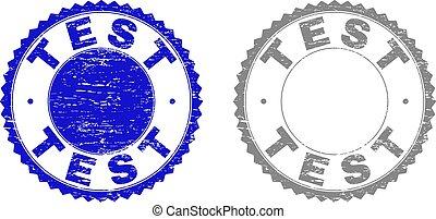 Grunge TEST Textured Stamp Seals