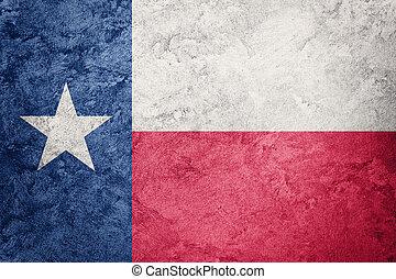 Grunge Texas state flag. Texas flag background grunge texture.