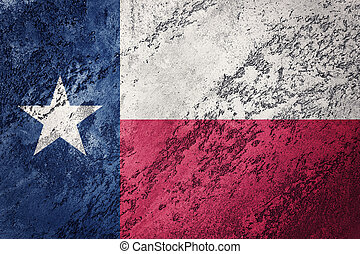 Grunge Texas state flag. Texas flag background grunge texture.