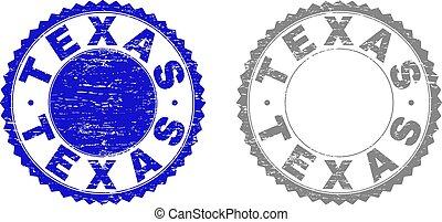 Grunge TEXAS Textured Stamps