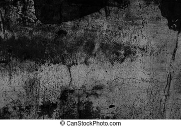 Grunge texture, black and white abstract background