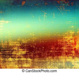 Grunge texture, distressed background. With different color patterns: yellow (beige); brown; blue; cyan; red (orange)