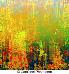 Grunge texture, distressed background. With different color patterns: yellow (beige); red (orange); blue; green; cyan
