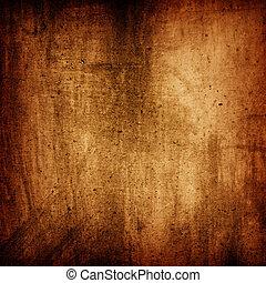 grunge, texture, fond, mur, brun