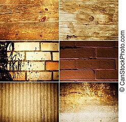 Grunge texture set
