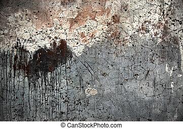 grunge, texture, vieux, fond, mur