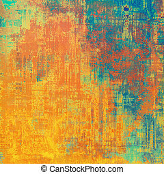 Grunge texture, Vintage background. With different color patterns: yellow (beige); blue; red (orange); green