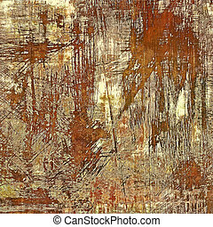 Grunge texture, Vintage background. With different color patterns: yellow (beige); brown; gray