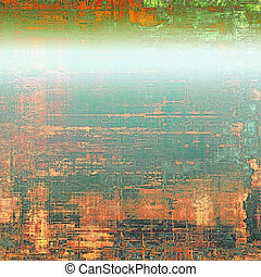 Grunge texture, Vintage background. With different color patterns: yellow (beige); red (orange); blue; green